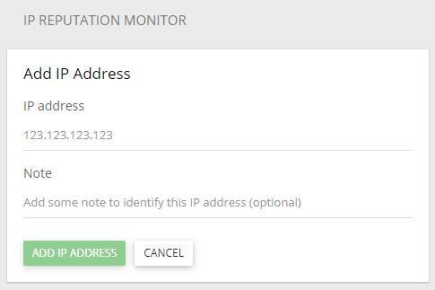 Add IP to Reputation Monitor
